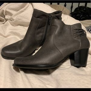 Gray Baretraps booties